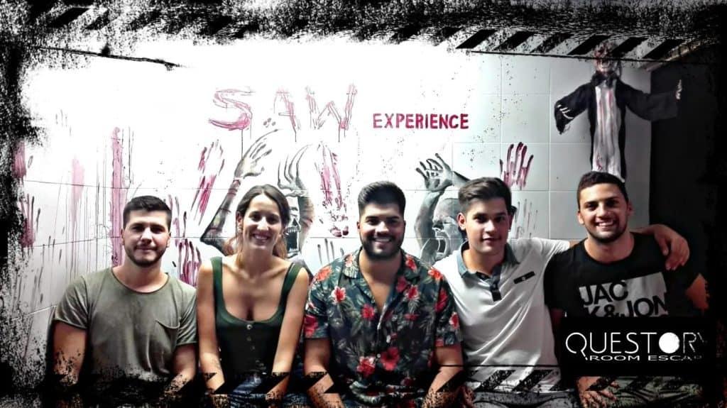 Roger, Ana, Luis, Jose y Felipe realizando saw experience